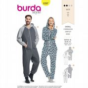6397 Burda Pattern: Unisex Jumpsuit